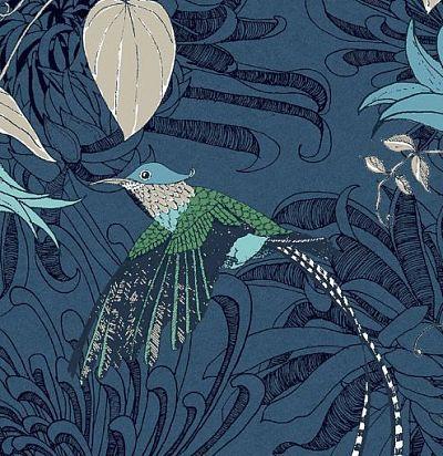 обои синие с рисунком 10905 Fardis