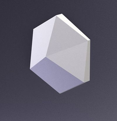 E-0013 3D  Cube-Ex1 Дизайнерская панель из гипса ARTPOLE