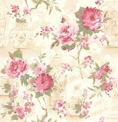 обои с розовыми цветами CD003122 Chelsea Decor Wallpapers