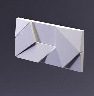 E-0001 3D  Origami Дизайнерская панель из гипса ARTPOLE