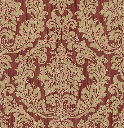 обои бордово-золотые CD001702 Chelsea Decor Wallpapers