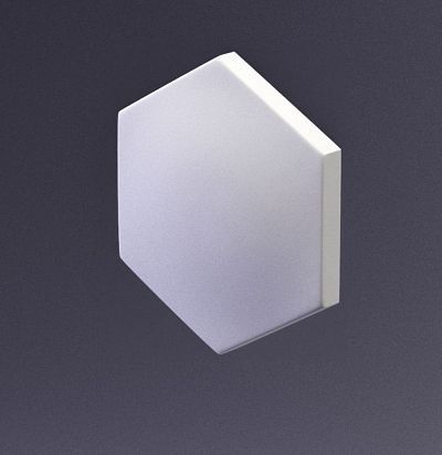 E-0003 3D  Heksa-alfa Дизайнерская панель из гипса ARTPOLE