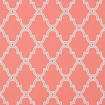 Фото: Обои Thibaut Graphic Resource T35122 Stanbury Trellis Coral- Ампир Декор