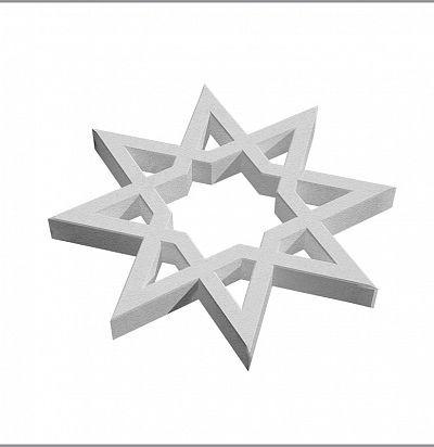 A 713 Орнамент (2 шт.) Декоративный элемент Зерн