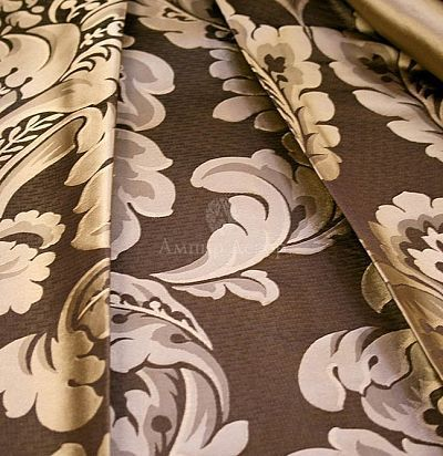 Жаккард шелк ткань с классическим рисунком SA 5000-19641 Ampir Decor