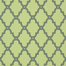 Фото: Обои Thibaut Graphic Resource T35116 Stanbury Trellis Navy on Green- Ампир Декор