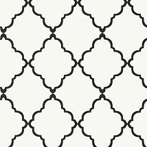 Фото: Обои Anna French Seraphina AT6059 Klein trellis Black on White- Ампир Декор