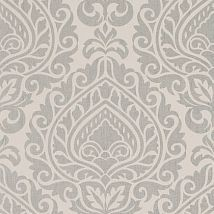 Фото: Обои Anna French Zola AT34111 Annette Metallic Silver on Linen- Ампир Декор