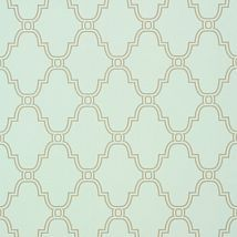 Фото: Обои Thibaut Graphic Resource T35120 Stanbury Trellis Linen on Aqua- Ампир Декор