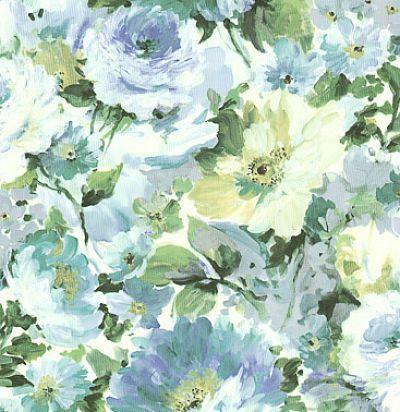 обои голубые с цветами CD003117 Chelsea Decor Wallpapers