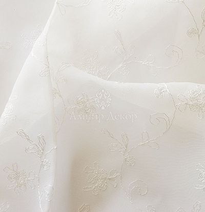 Вуаль с вышивкой 18238 voile 050 Ampir Decor