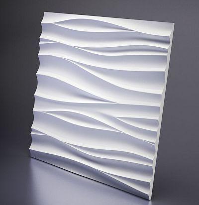 D-0002-2 3D  Silk-2 Дизайнерская панель из гипса ARTPOLE