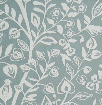 ткань из хлопка с растительным орнаментом Harlow Aqua Voyage Decoration