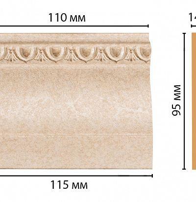 Цветная лепнина D204-18D Decomaster