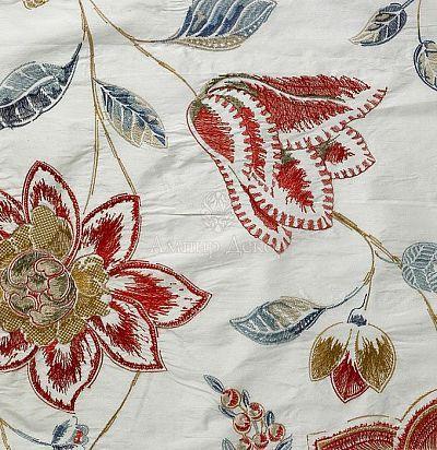 шелковая ткань с цветами 10436-50 Nobilis