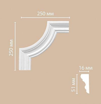 Лепнина из полиуретана 97164-2/80 Decomaster
