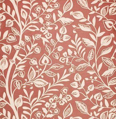 ткань из англии красного оттенка Wisley Coral Voyage Decoration
