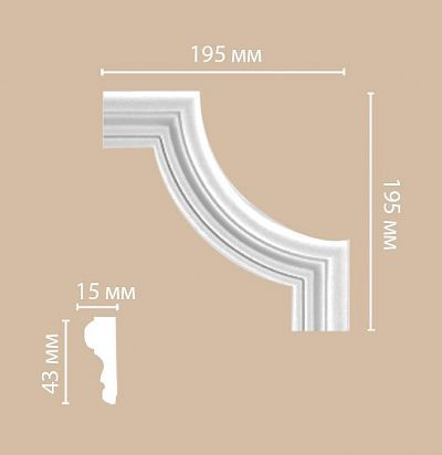 Лепнина из полиуретана 97154-2 ШК/140 Decomaster