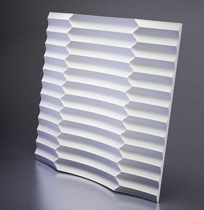 M-0033 3D  Ruffle Дизайнерская панель из гипса ARTPOLE
