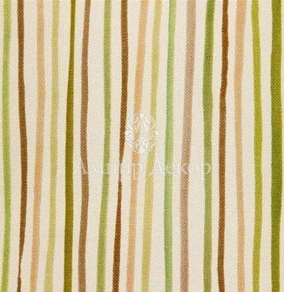 портьерная английская ткань Elm Cream / Green Voyage Decoration