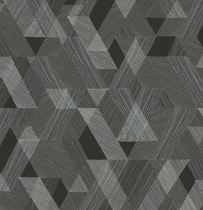обои черные с геометрией KWA401 Khroma Zoom