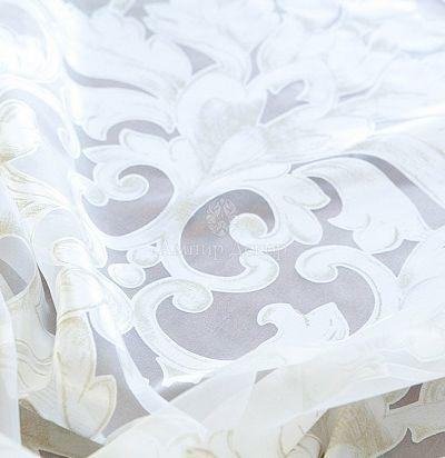 Тюль органза с травлением классический рисунок дамаск A00910 8N Ampir Decor