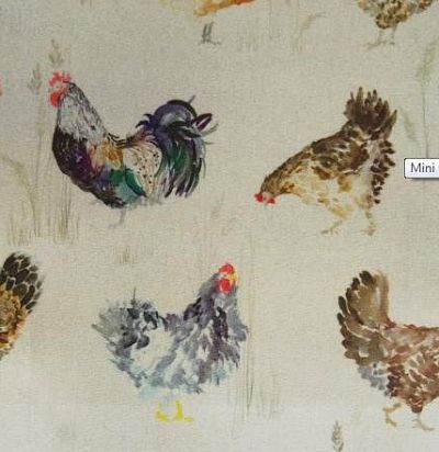 Английская ткань Mini Chook Chook Oil Cloth Voyage Decoration