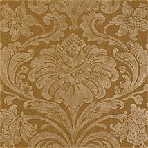 Фото: Обои Thibaut Filigree T2075 Maison damask Metallic on Tobacco- Ампир Декор
