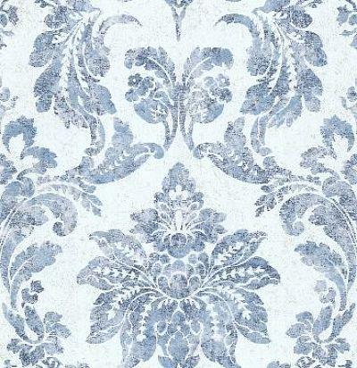 обои с голубым дамаском CD003352 Chelsea Decor Wallpapers