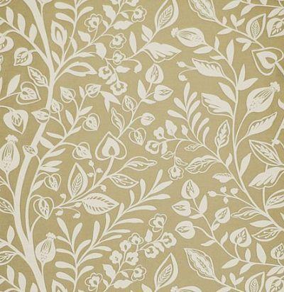 ткань бежевая с растительным орнаментом Wisley Corn Voyage Decoration
