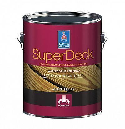 Пропитка для защиты деревянных фасадов Super Deck Exterior Waterborne Clear Sealer 3,8л