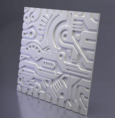 М-0050 3D  Ex-machina B Дизайнерская панель из гипса ARTPOLE