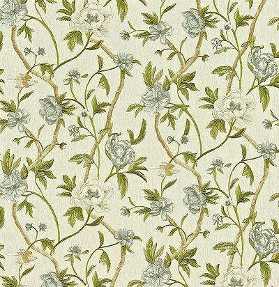 портьерная ткань из льна с вышивкой 330005 Zoffany