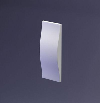 E-0049 3D  Stream small Дизайнерская панель из гипса ARTPOLE