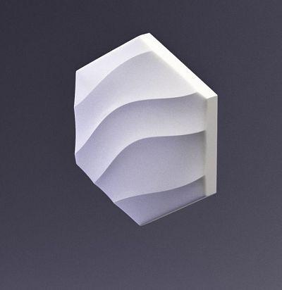 E-0008 3D  Heksa-wave Дизайнерская панель ARTPOLE