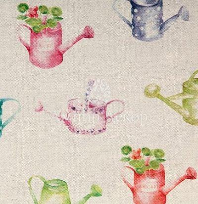 портьерная английская ткань Watering Can Small Linen Voyage Decoration