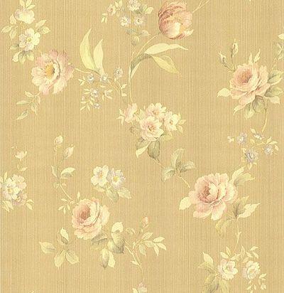обои коричневые с цветами CD001717 Chelsea Decor Wallpapers