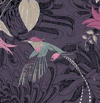 обои фиолетовые с птицами 10908 Fardis