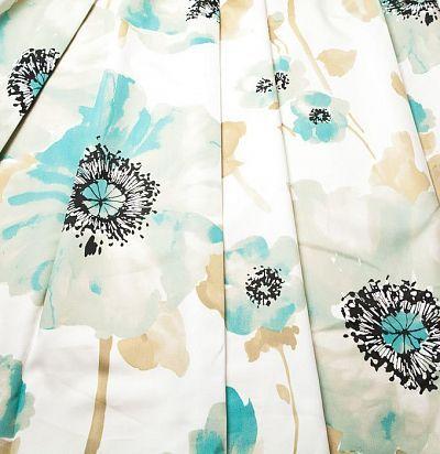 Портьерная ткань с цветочным узором 4254-02 F Volland