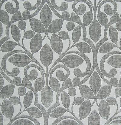 бархат с растительным узором Ishfahan Silver Voyage Decoration
