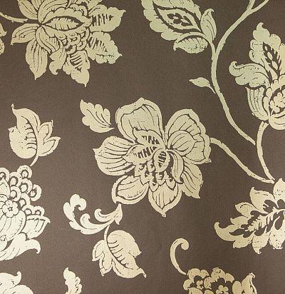 обои коричневые цветочные 355003 Eijffinger