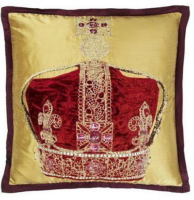 декоративная подушка с вышивкой корона CCRC0018 The Royal Collection