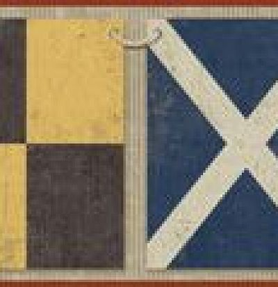 Бордюр с морскими флагами 343025 Eijffinger