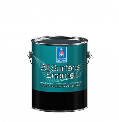 Эмаль для лепнины и металла All Surface Enamel Satin кварта (0,95л) Sherwin-Williams