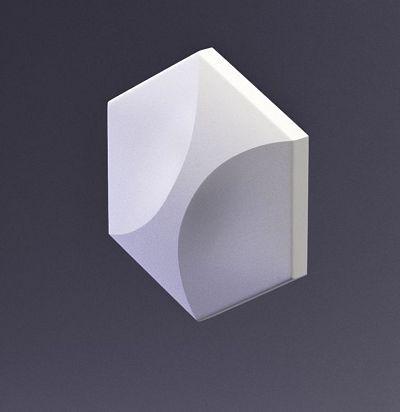 E-0012 3D  Heksa-twin Дизайнерская панель из гипса ARTPOLE