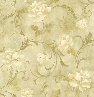 обои золотые цветочные CD002044 Chelsea Decor Wallpapers