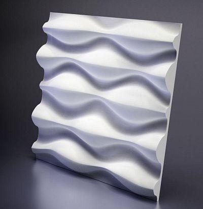 M-0016 3D  Drop Дизайнерская панель из гипса ARTPOLE