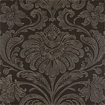 Фото: Обои Thibaut Filigree T2057 Maison damask Metallic on Black- Ампир Декор