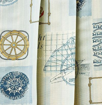 Ткань с морским рисунком Verne-65 Ampir Decor