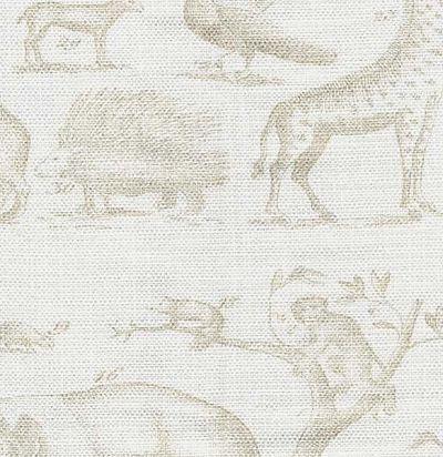 Jungle Neutral Ткань из Англии Andrew Martin